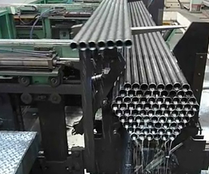 Steel tube packing line