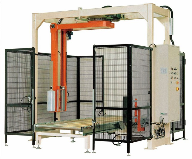 rotate arm pallet stretch wrapping machine