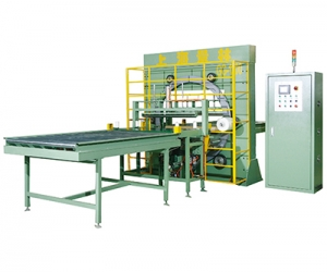 Board wrapping machine