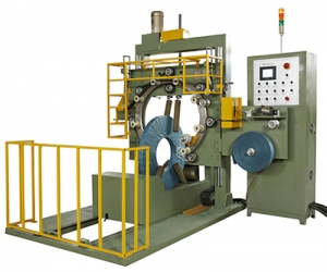 Copper coil wrapping machine